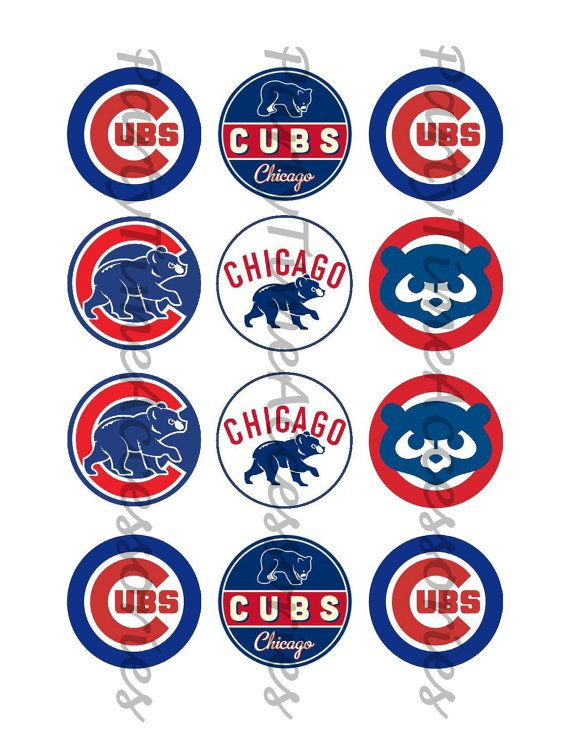 photo relating to Printable Cubs W Flag titled Chicago Cubs Printable Electronic document for Occasion Stickers