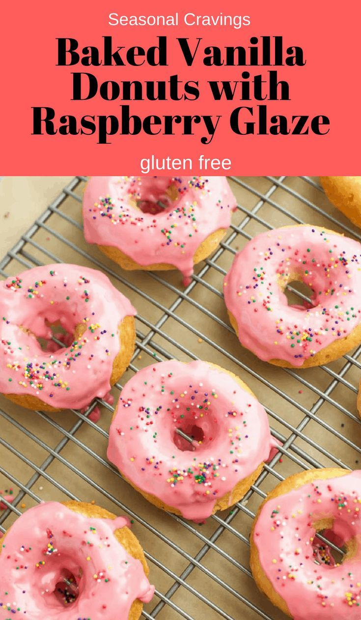 gluten free vanilla cake donuts