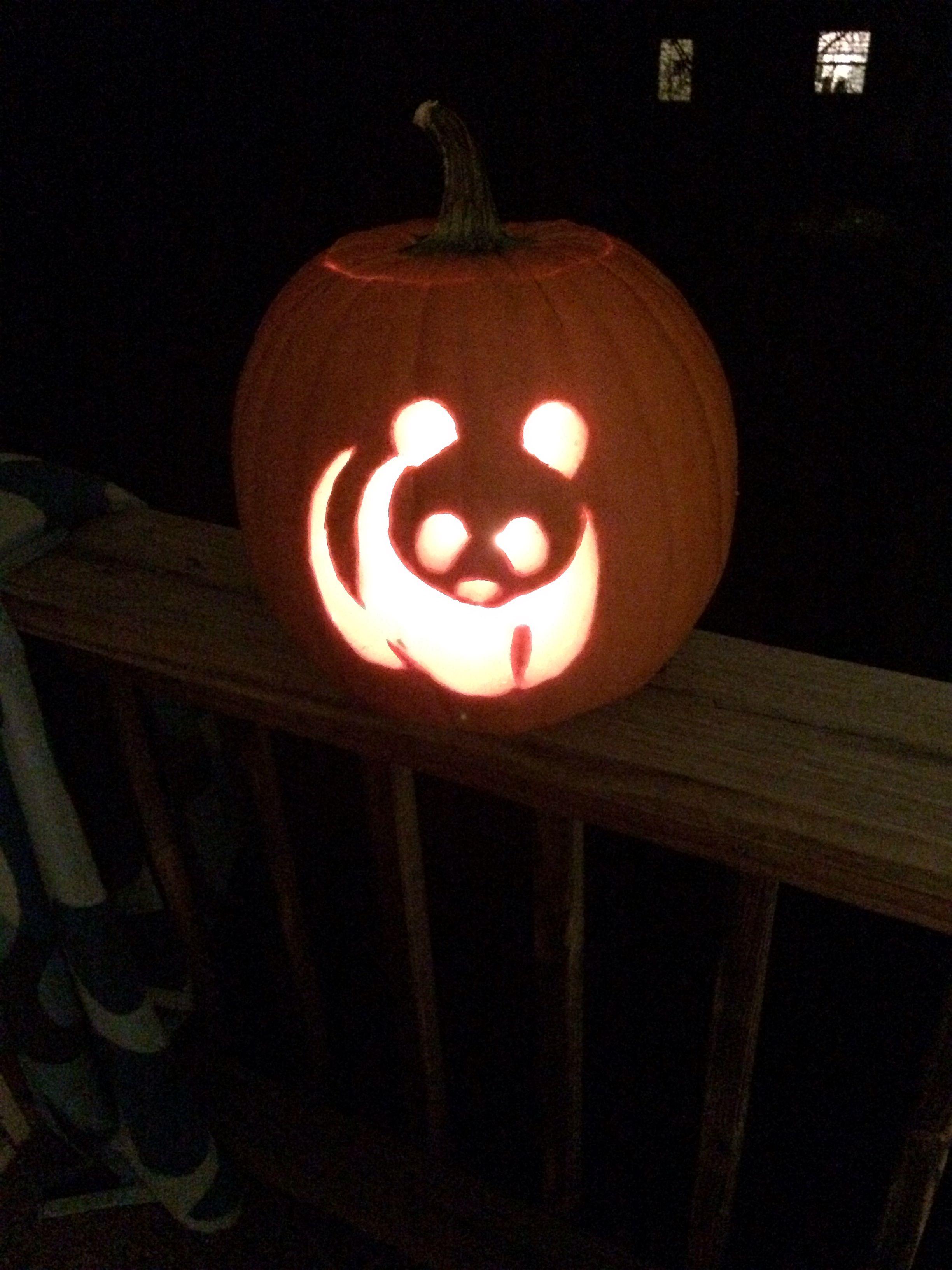 pumpkin carving! wwf pandas artsy stuff! pumpkin carving