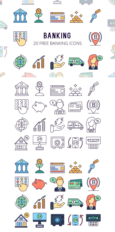 Banking Vector Free Icon Set Icon set, Business icon