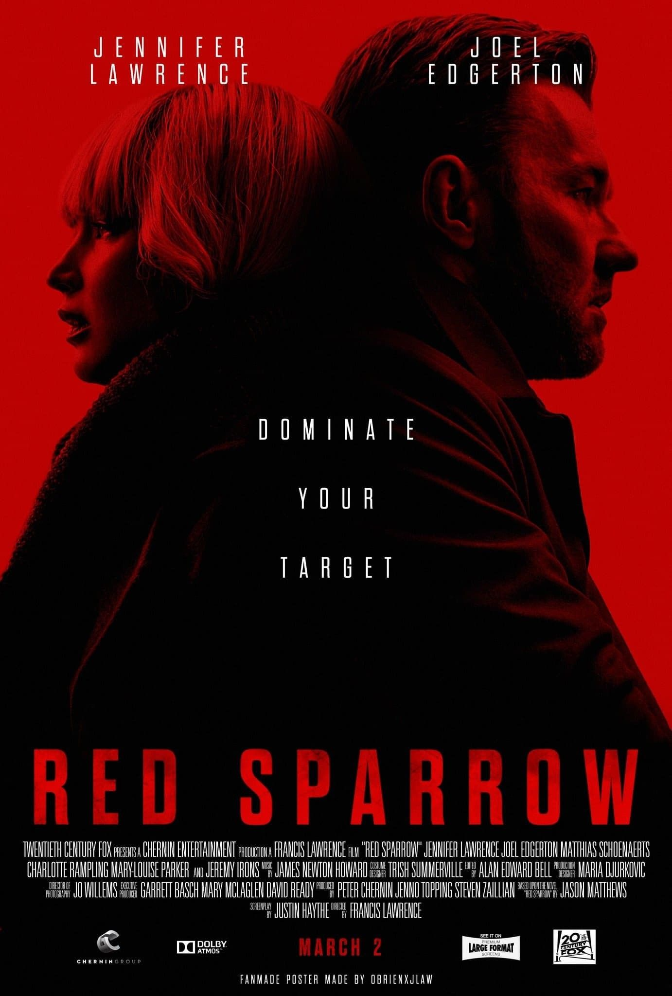 Pin by Ajay Kapoor on Red Sparrow | Red sparrow, Red sparrow movie, Full  movies online free