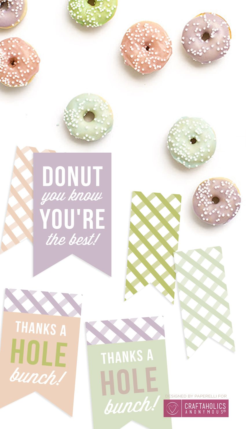 Free Printable Donut Tags | Cumpleaños
