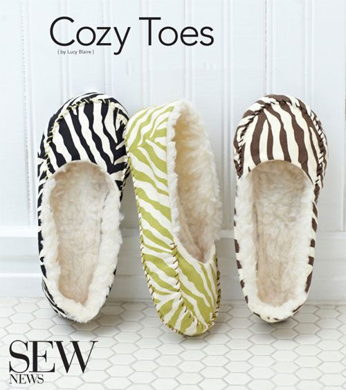 Stitch a pair of cozy slippers with easy pattern and instructions ...