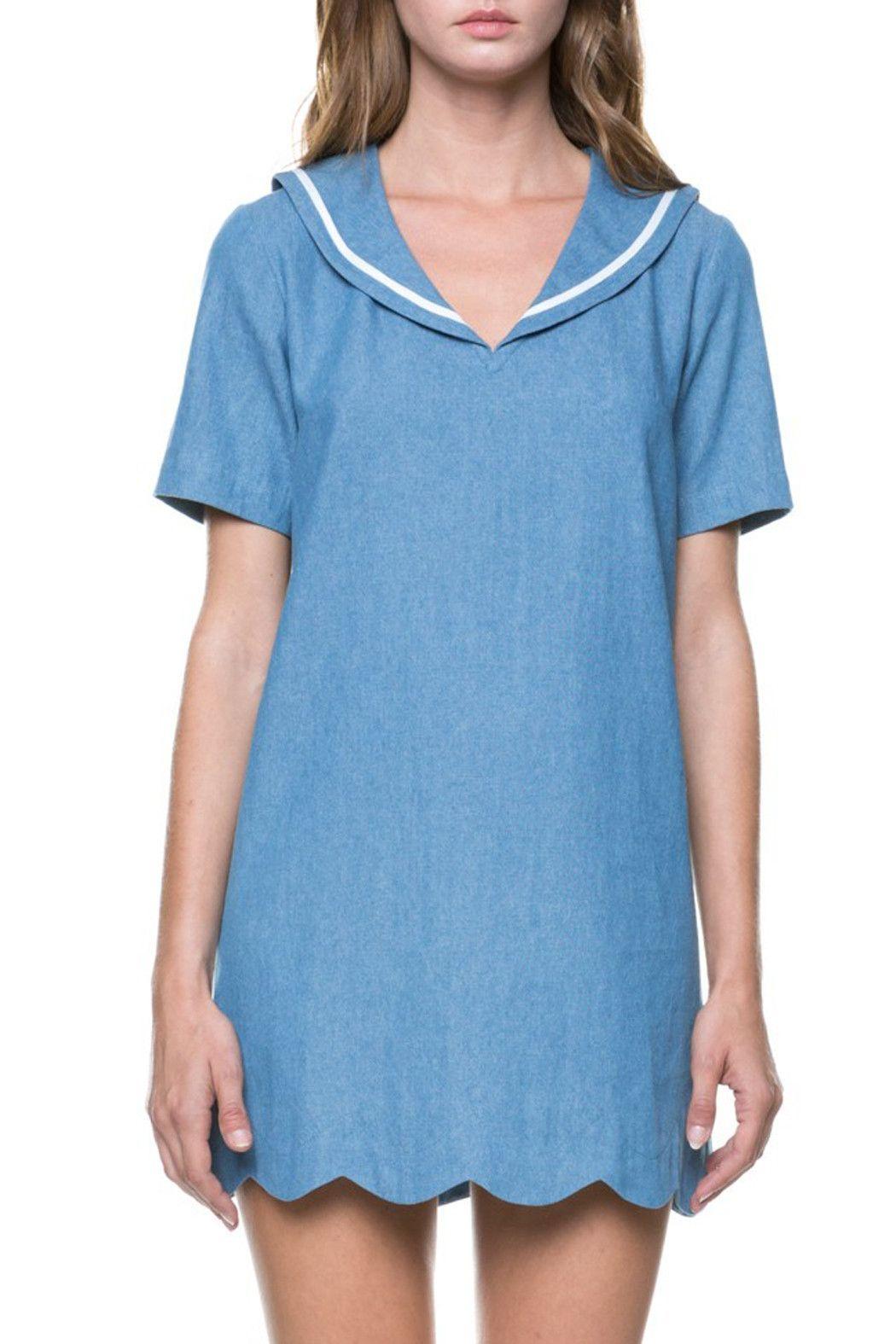Sailor Denim Dress