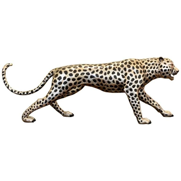 1stdibs Bronze Cheetah Silvered French Animal Sculpture Animal