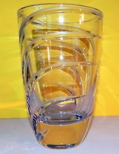 antique waterford swirled crystal bowls   VINTAGE-MARQUIS-BY-WATERFORD-CUT-CRYSTAL-LARGE-THICK-HEAVY-SWIRL-VASE ...