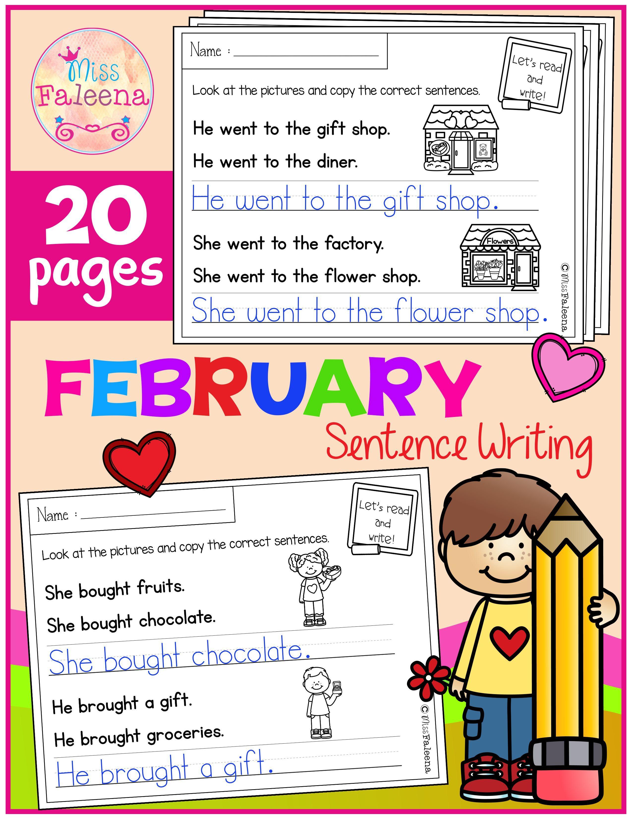 February Sentence Writing