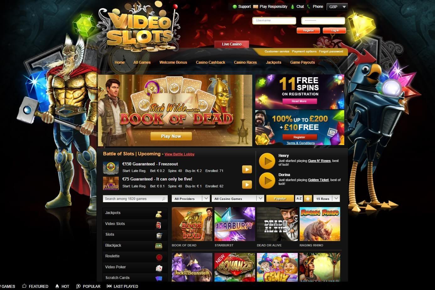 Free Online Casino Video Slots Best Online Video Slots