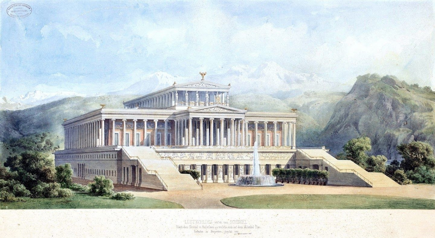Historical Designs Summer Palace 1856 Never Built Concept Architecture Classical Architecture Architecture Building
