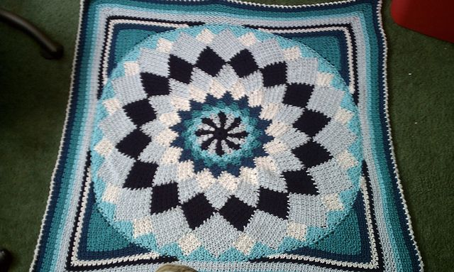 Ravelry Project Gallery For Giant Dahlia Afghan In Single Crochet