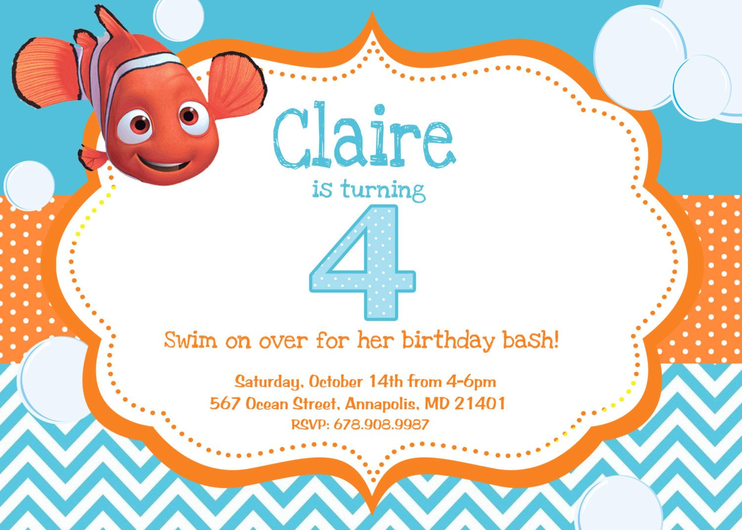 invito nemo | festa compleanno | Pinterest | Finding nemo, Party ...