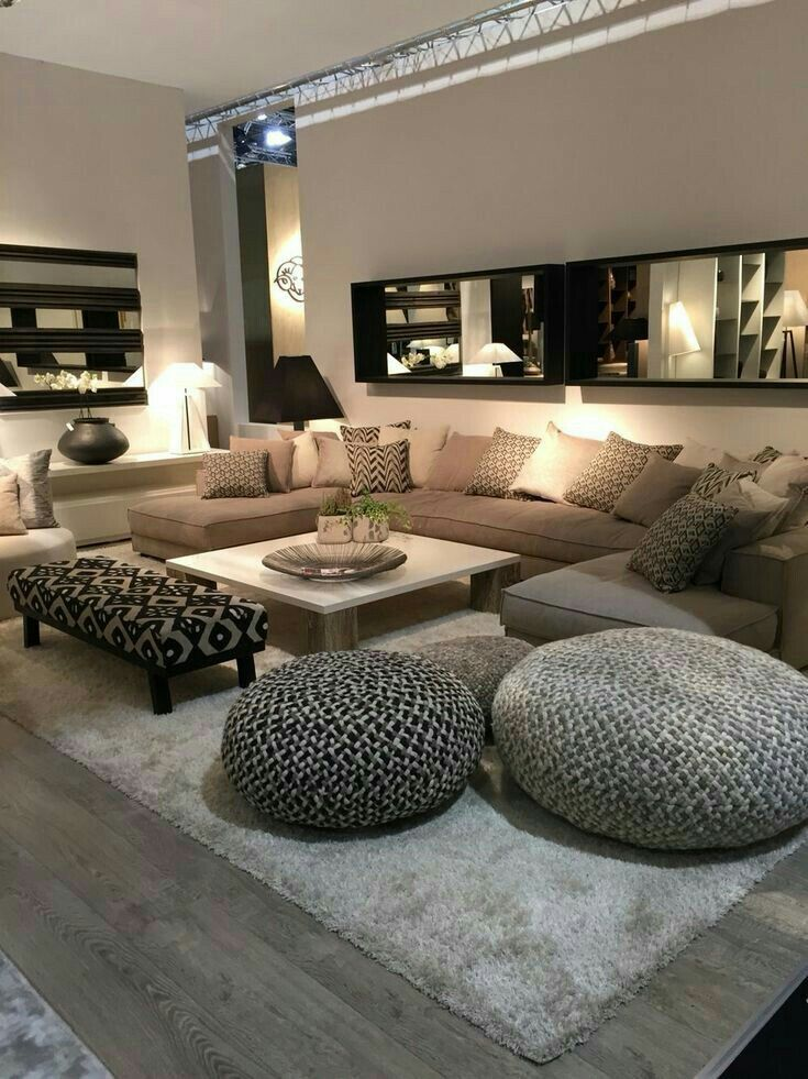 Dream lounge room  favourite for overall feel ambience floor rug lighting but not mirrors also best living images in rh pinterest