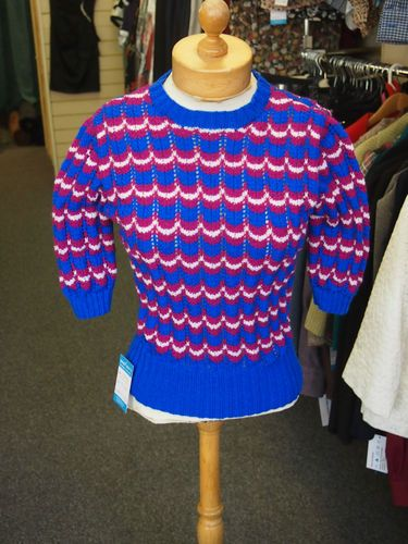 1940s Womens Victory Jumper Hand knitted from Vintage ...