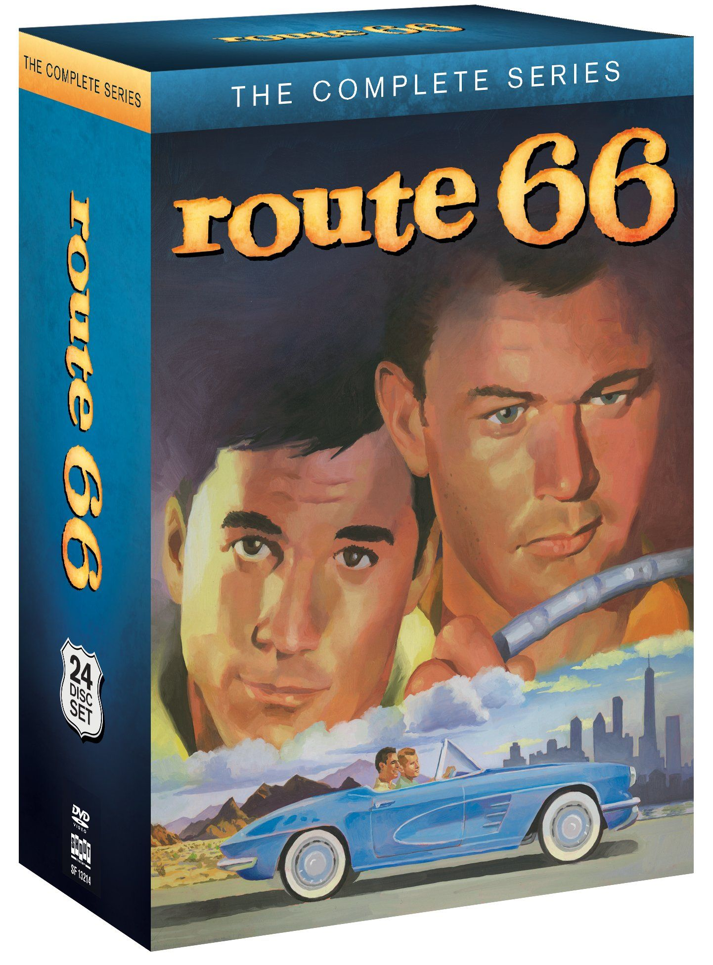 "route 66: the complete series"" available on dvd - more than 50 years"