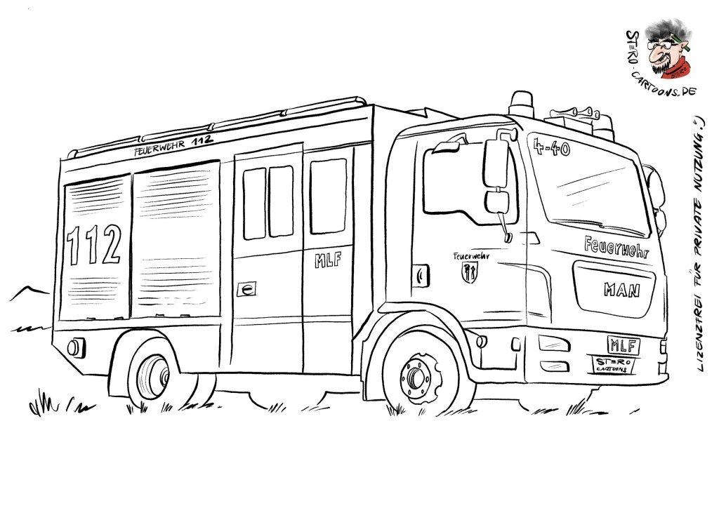 Feuerwehrauto Malvorlagen