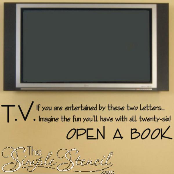 T.V. - Open a book