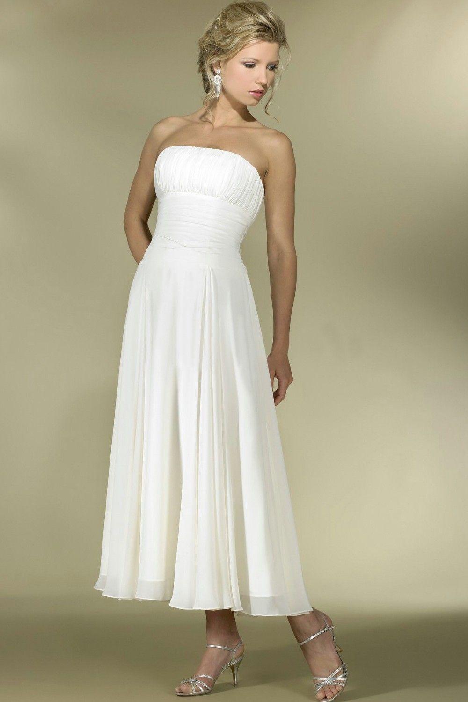 Tea length wedding dress tea length bridal gowns a wedding zone