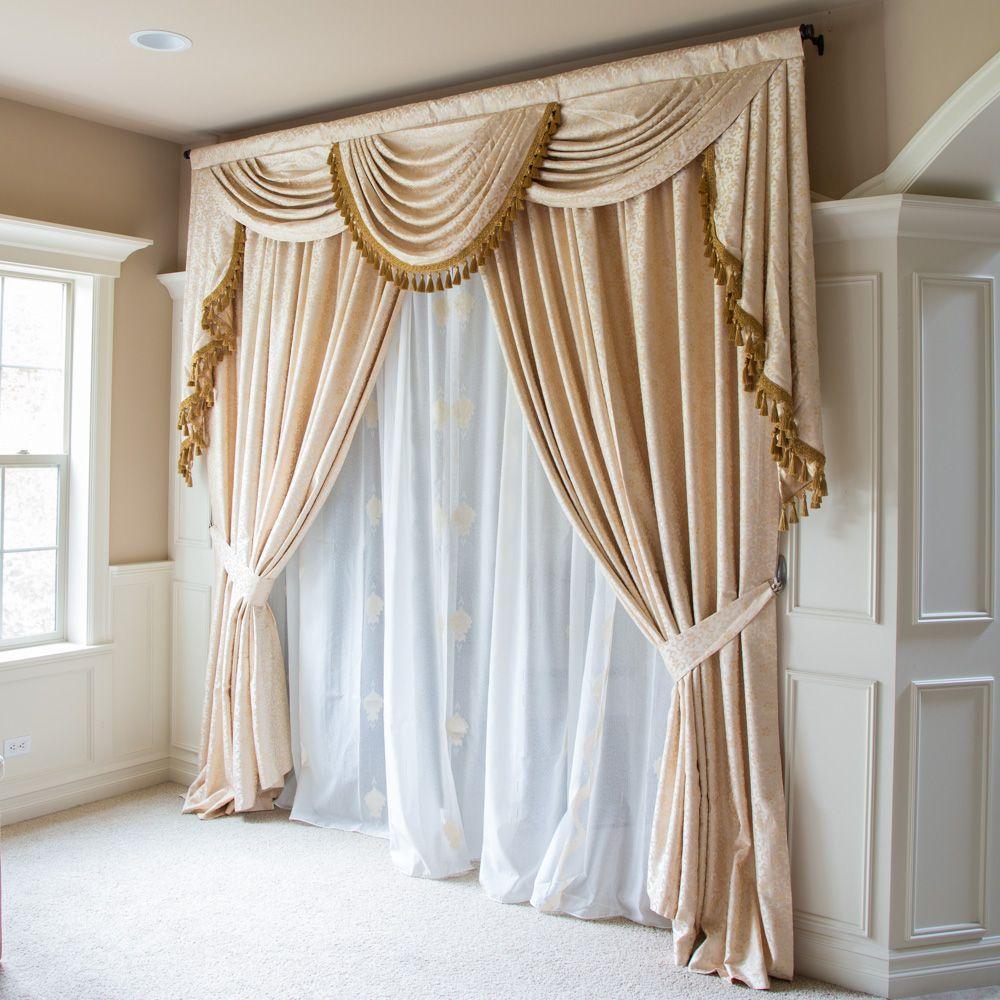 Ivory Floral Full Set 100 W Luxury Curtains Living Room Curtain Decor Curtains Living Room Living room elegant curtains