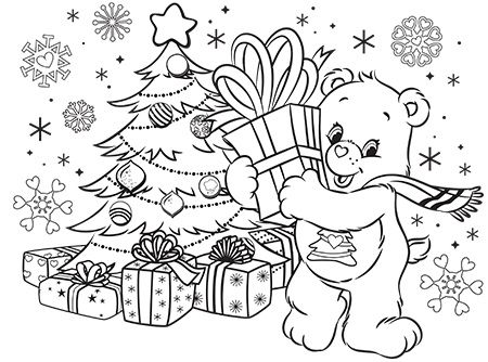 Giving Is Receiving Care Bears Coloring Page Ag Kidzone Bear Coloring Pages Coloring Pages Christmas Coloring Pages