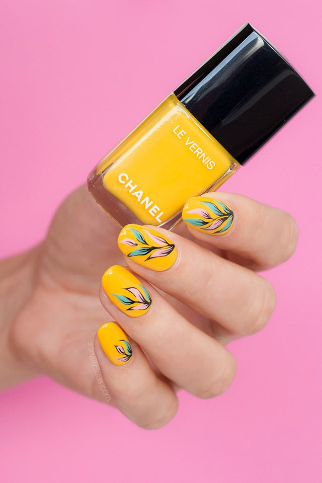 Yellow Nail Design With Chanel Nail Polish Giallo Napoli Nails