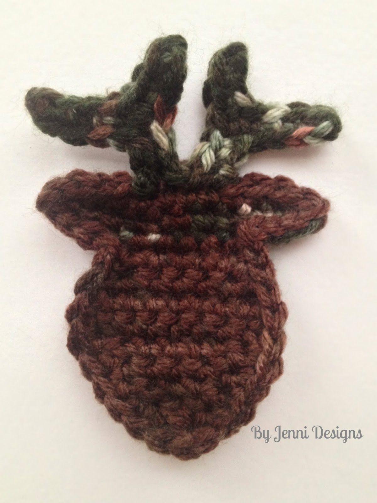 Free Crochet Pattern Photo Tutorial How To Make A Deer Head