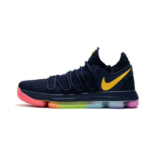febc7d128f655 Kevin Durant Shoes Basketball Shoes - Buy 2017 Nike KD 10 Blue Gold Red  Basketball Shoes