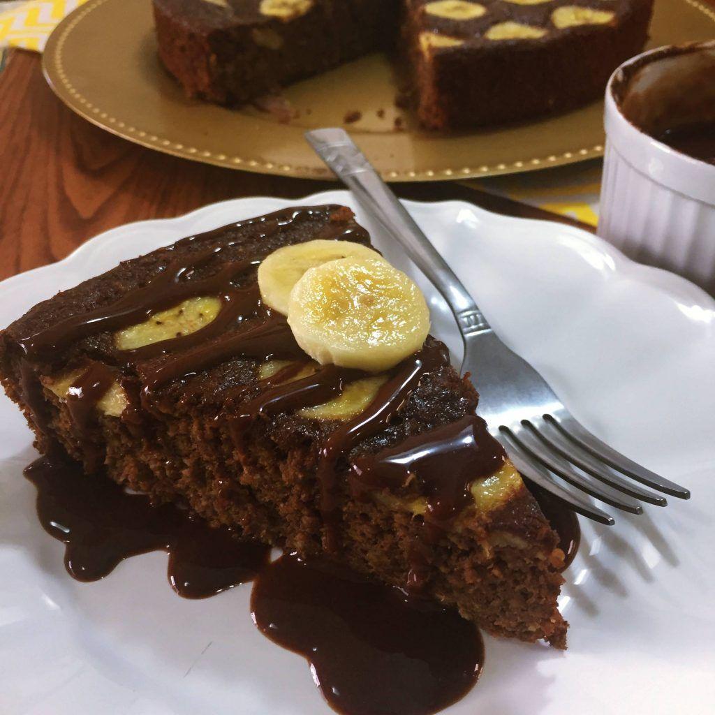 Bolo De Chocolate Com Banana Funcional Receita Com Imagens Bolo De Chocolate Com Banana Receitas Sobremesa Chocolate