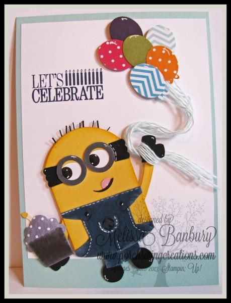 Minion Punch Art Birthday by melissabanbury - Cards and Paper Crafts at Splitcoaststampers