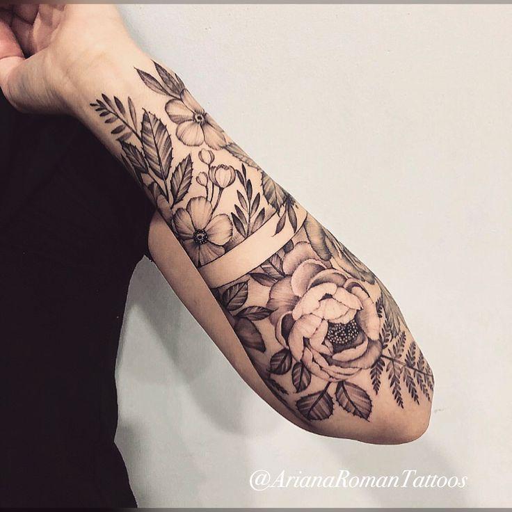 Floral Arm Band Tattoo By Ariana Roman Zukunftige Projekte
