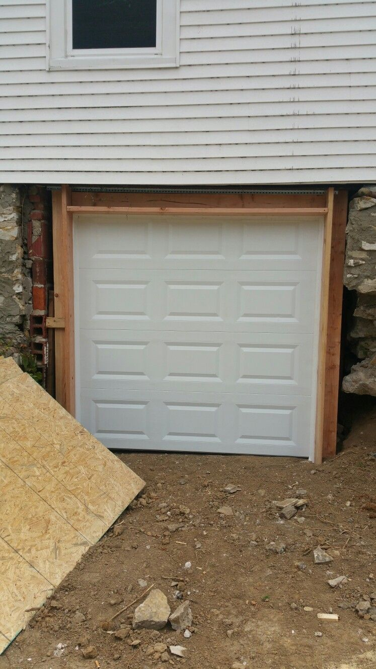7 X7 Clopay T50 Framed In Wall Where There Was None Kck Door Installation Outdoor Decor Garage Doors