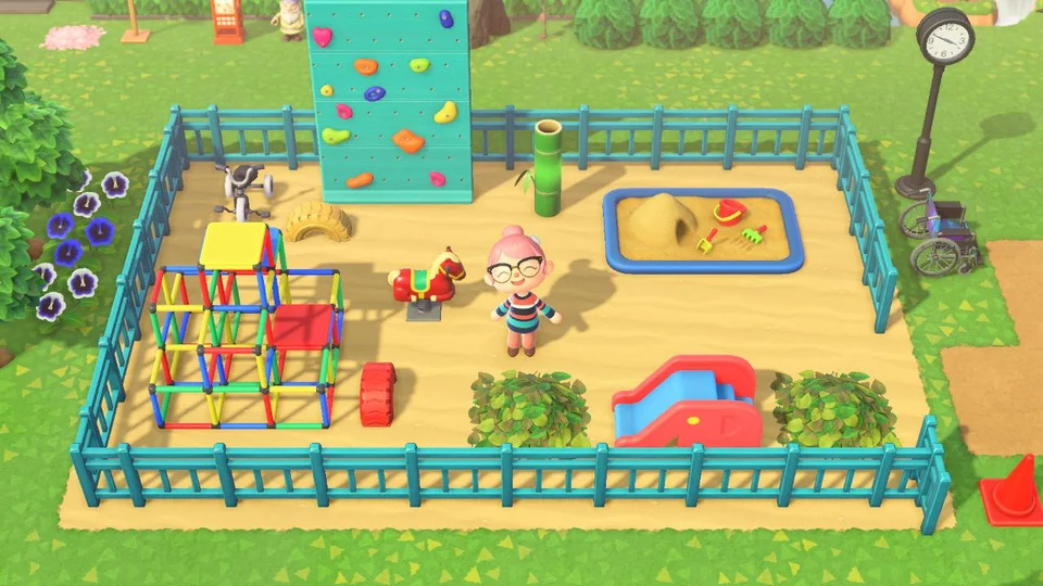 Finally Finished My Cute Lil Playground Animalcrossing In 2020 Animal Crossing 3ds Animal Crossing Villagers Animal Crossing