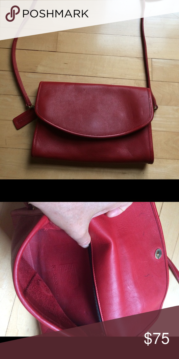 Red coach vintage bag Vintage coach made is USA! Red Coach Bags Shoulder  Bags 396e897208