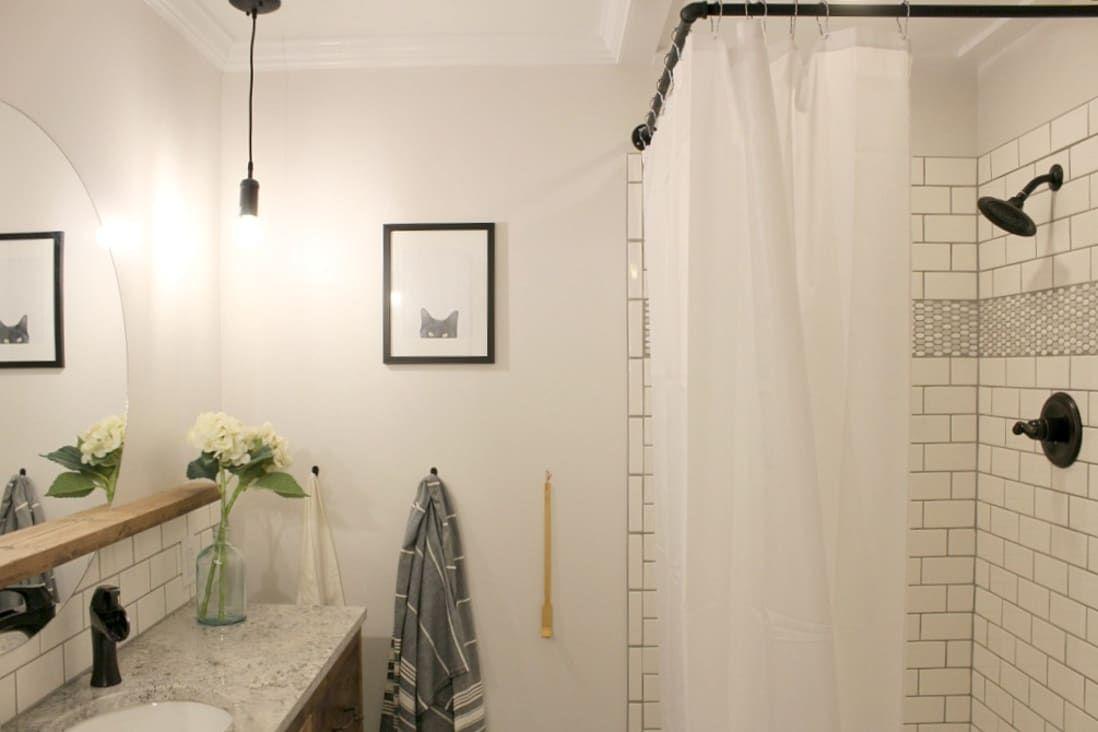 Photo of Vorher & Nachher: Ein winziges Badezimmer erhält eine stilvolle, raummaximierende Verjüngungskur