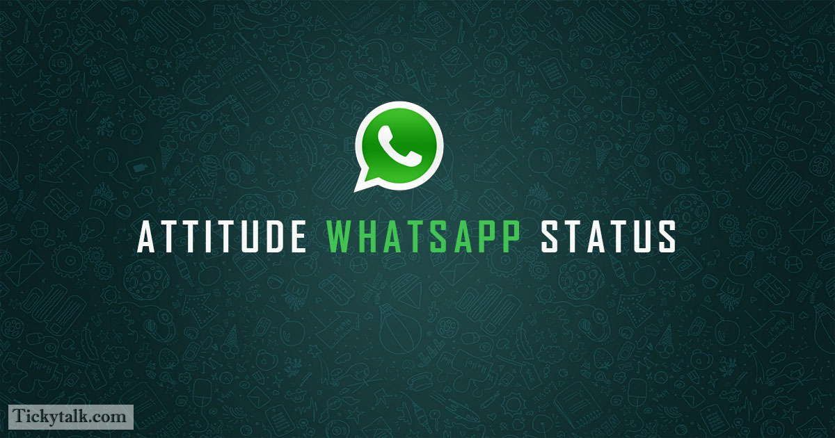 100 Attitude Whatsapp Status That Show Your Personality