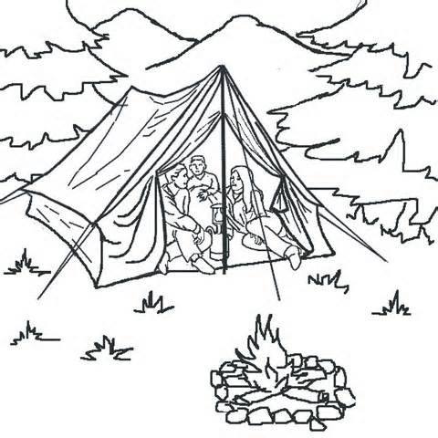 Girl Camping Colouring Pages Camping Coloring Pages Coloring Pages Monster Truck Coloring Pages