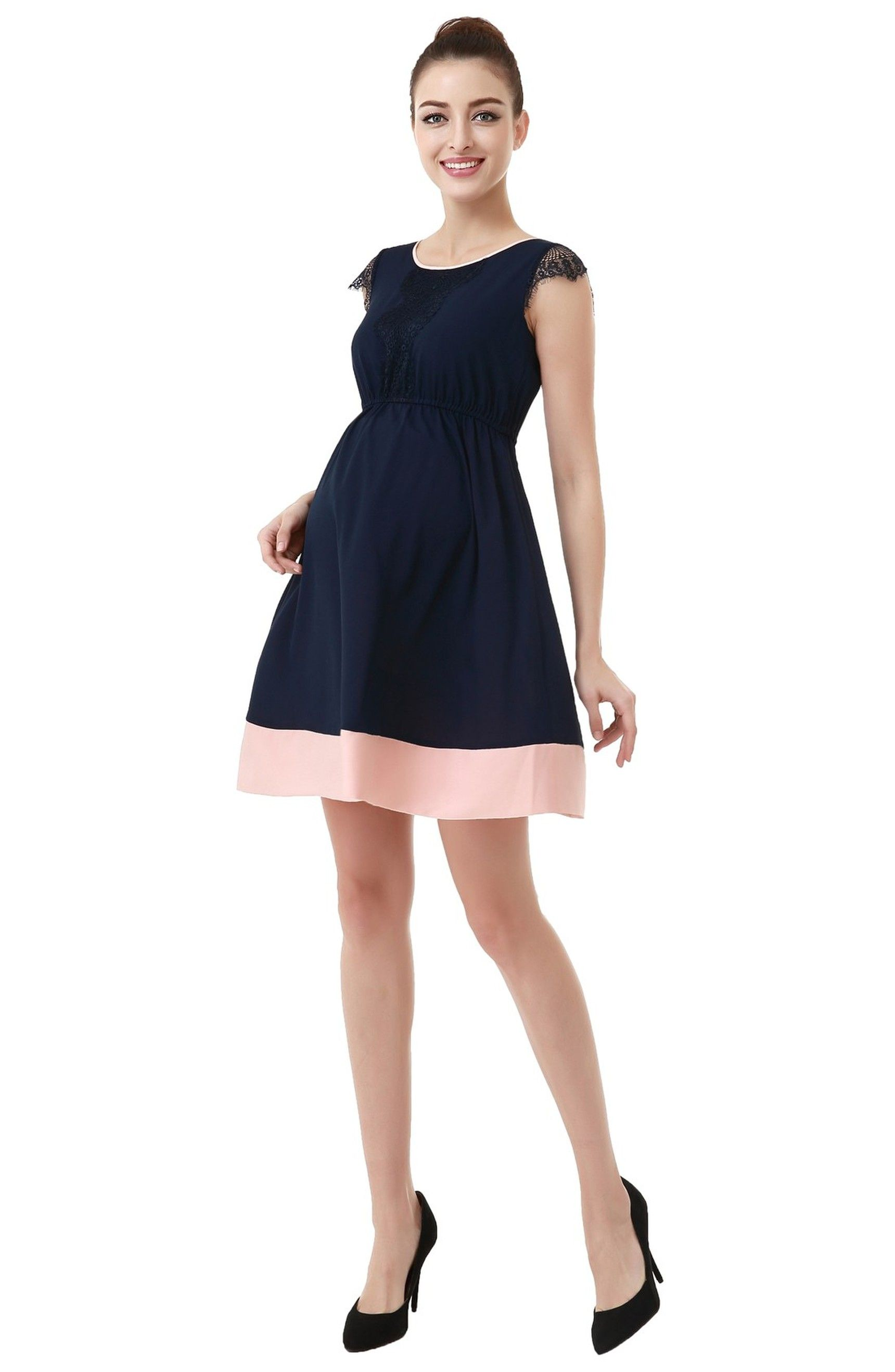 Pin by josefa richards on fashionable maternity clothing pinterest momo maternity nell lace trimmed colorblock dress perfect for my baby shower ombrellifo Image collections