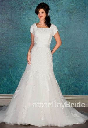 Modest Wedding Dress, Rosalia | LatterDayBride & Prom. Modest Mormon LDS Temple Dress