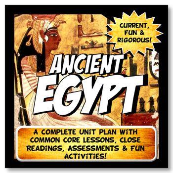 Ancient Egypt Unit Plan Lesson Activity Bundle History Common Core