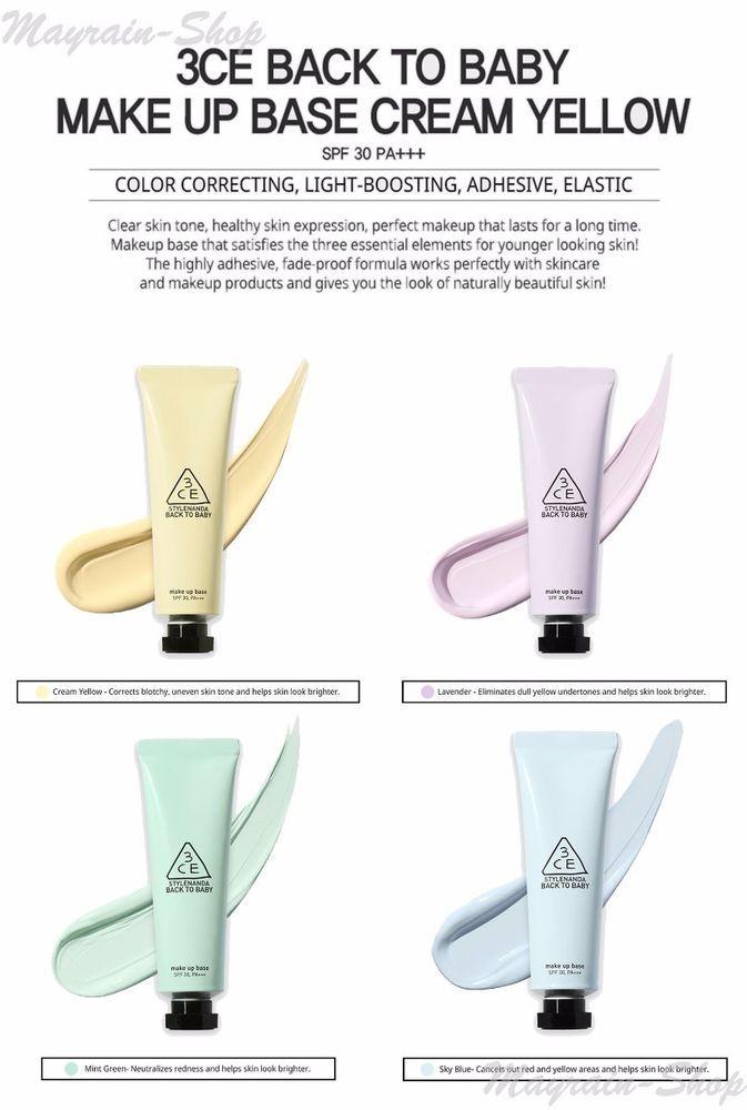 3ce Back To Baby Makeup Base : makeup, Stylenanda, 3CONCEPT, SPF30, PA+++, Genuine, KOREA