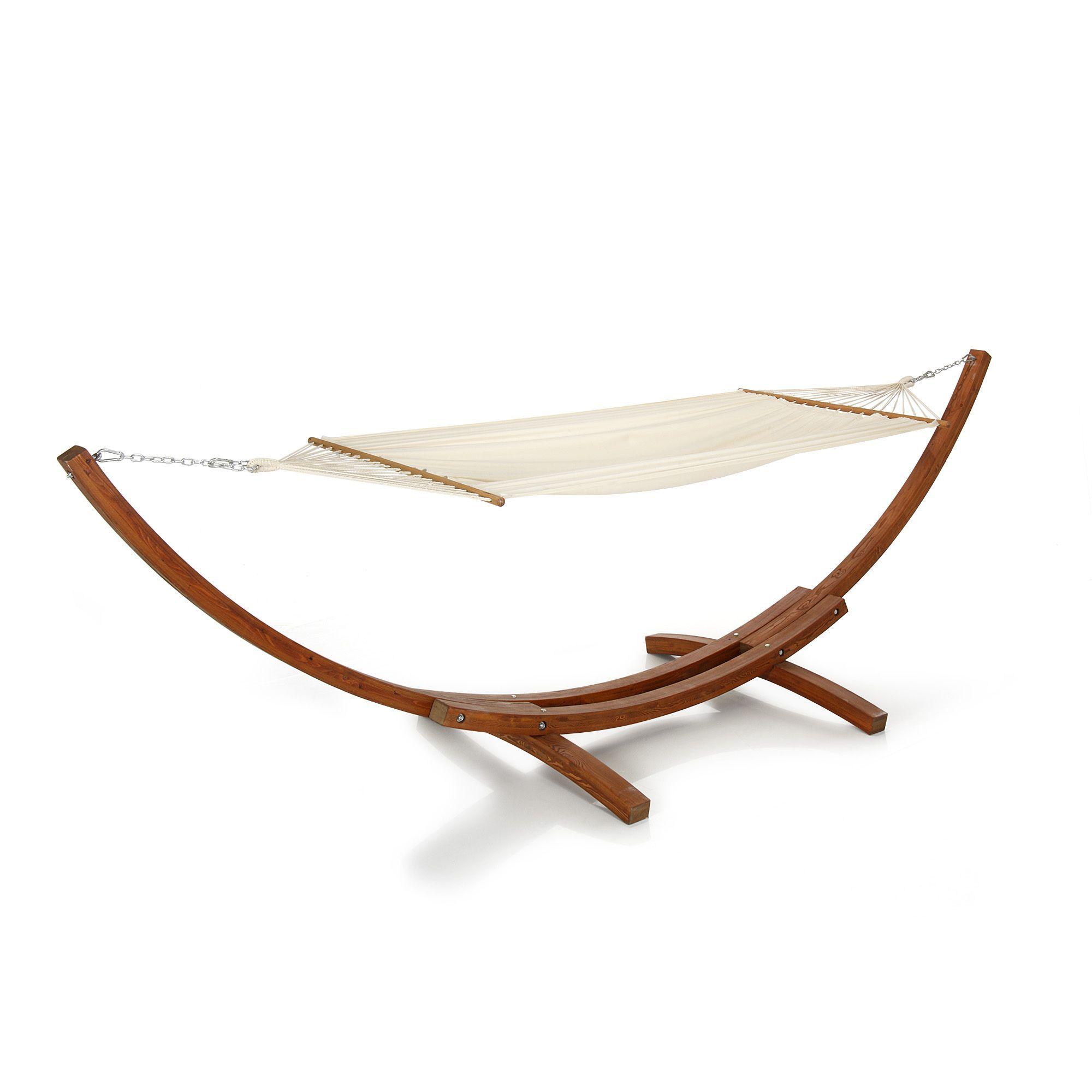 Hamac pour 2 avec structure design en bois naturel malang les idées cadeaux