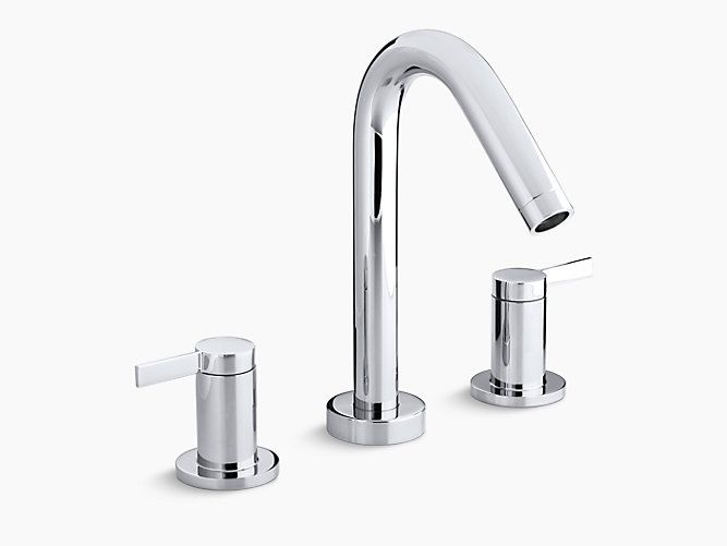 Stillness High Flow Bath Valve Trim With Lever Handles K T954 4 Kohler Tub Faucet Bathroom Faucets Bath Faucet
