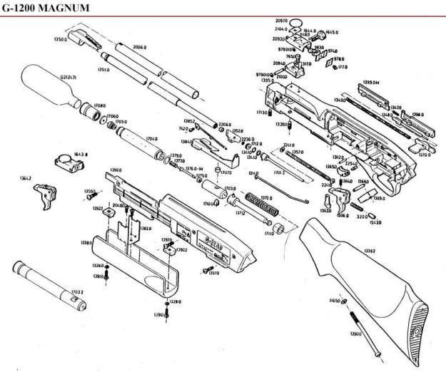 Air Rifle Parts Diagram