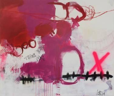 """Saatchi Art Artist Christiane Lohrig; Painting, """"THINK BIG"""" #art"""