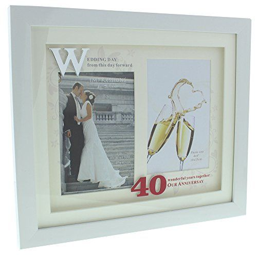 Stunning 40th Wedding Anniversary 4 X 6 Double Frame By Haysom