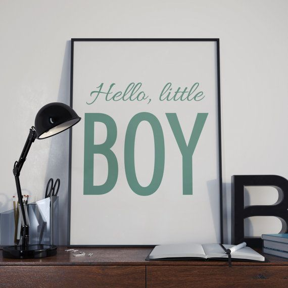 Hello little boy poster poster for kids printable by PrintingLife
