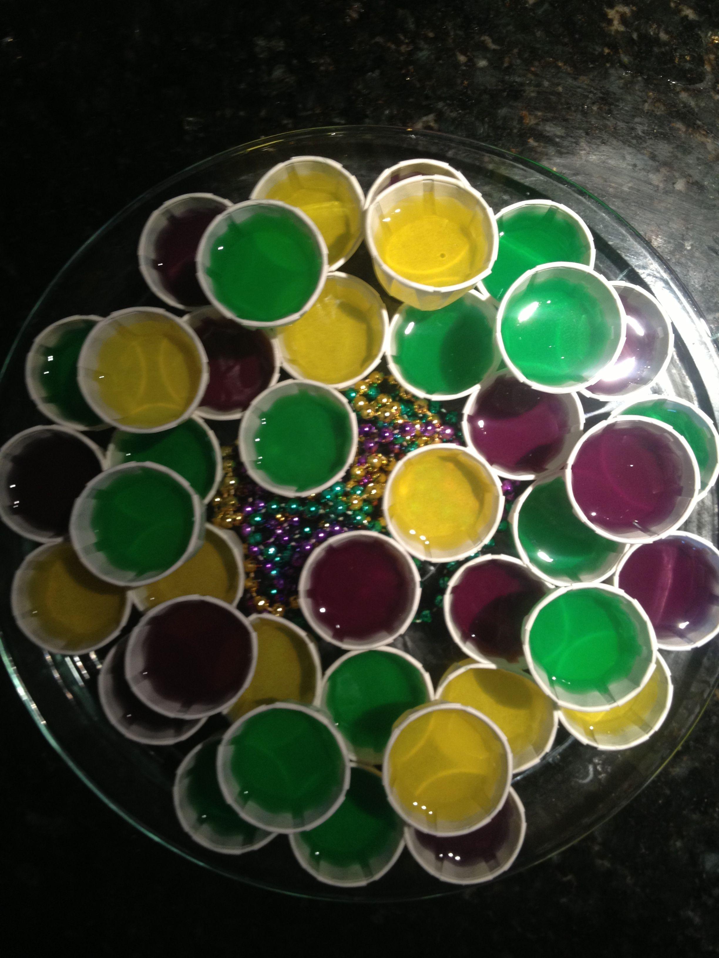 King Cake Jello Shot Recipe: Mardi Gras Jello Shots. Bringing These To My Friends