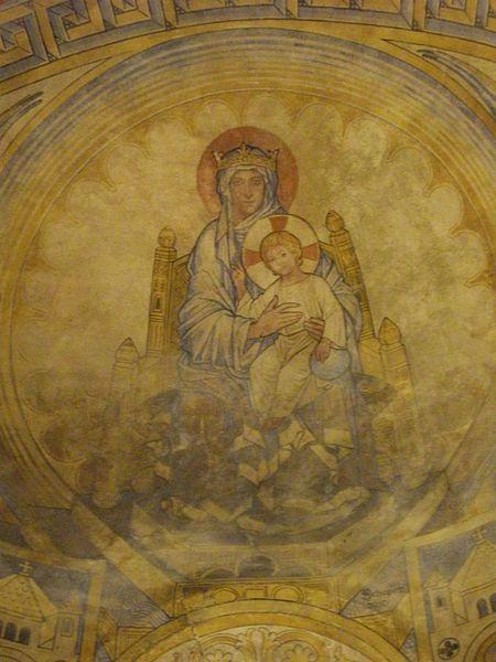 Metz - chapelles des Templiers, peintures - Moselle