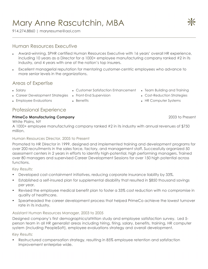Professionally Written Resumes  Pongo  Executive Resume Example