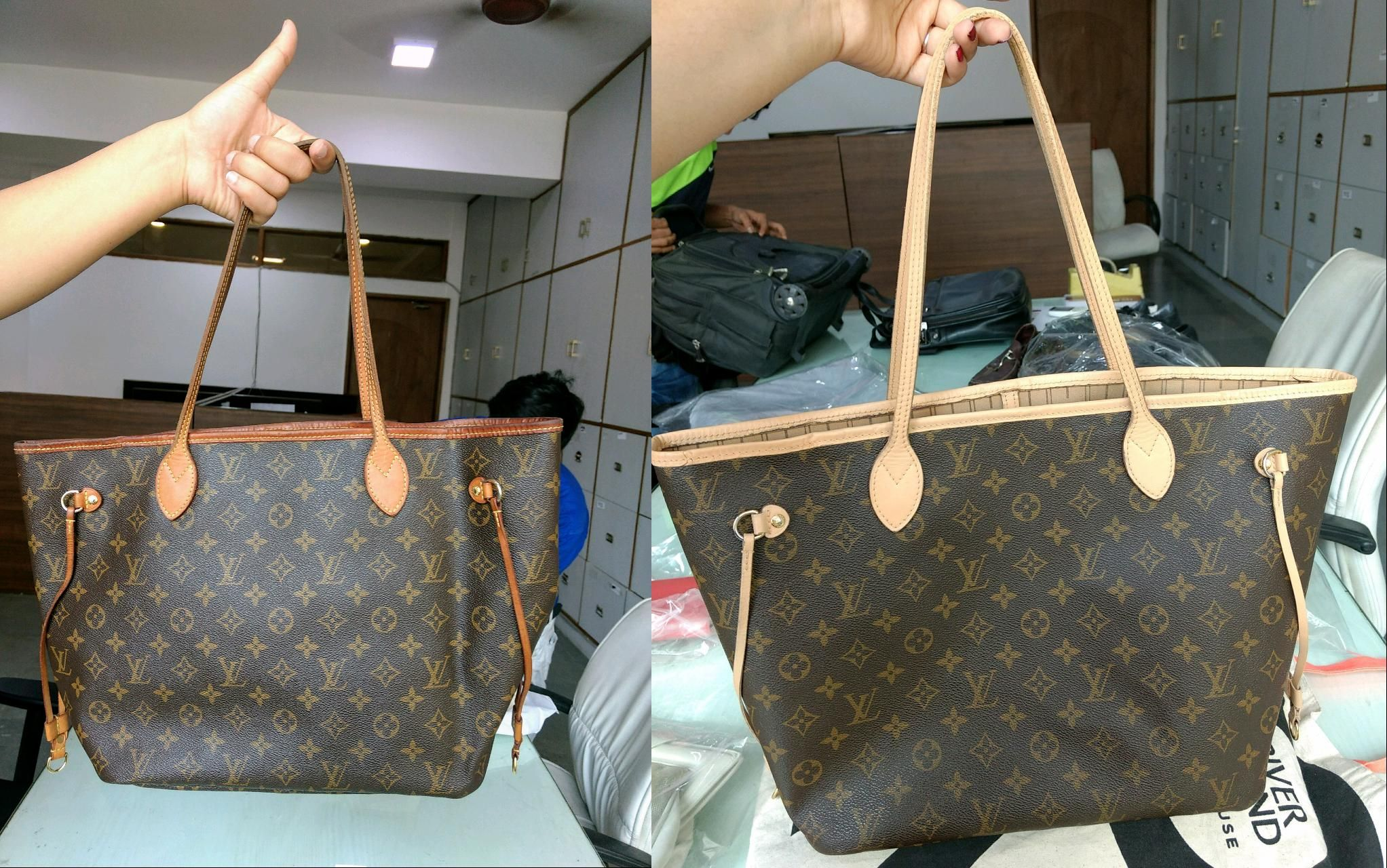 05358e1f6 Look how we restored the colour of this Louis Vuitton leather handbag!  #handbagspa #bagcleaning #bagdrycleaning #leatherlaundry #beforeandafter  #asgoodasnew ...