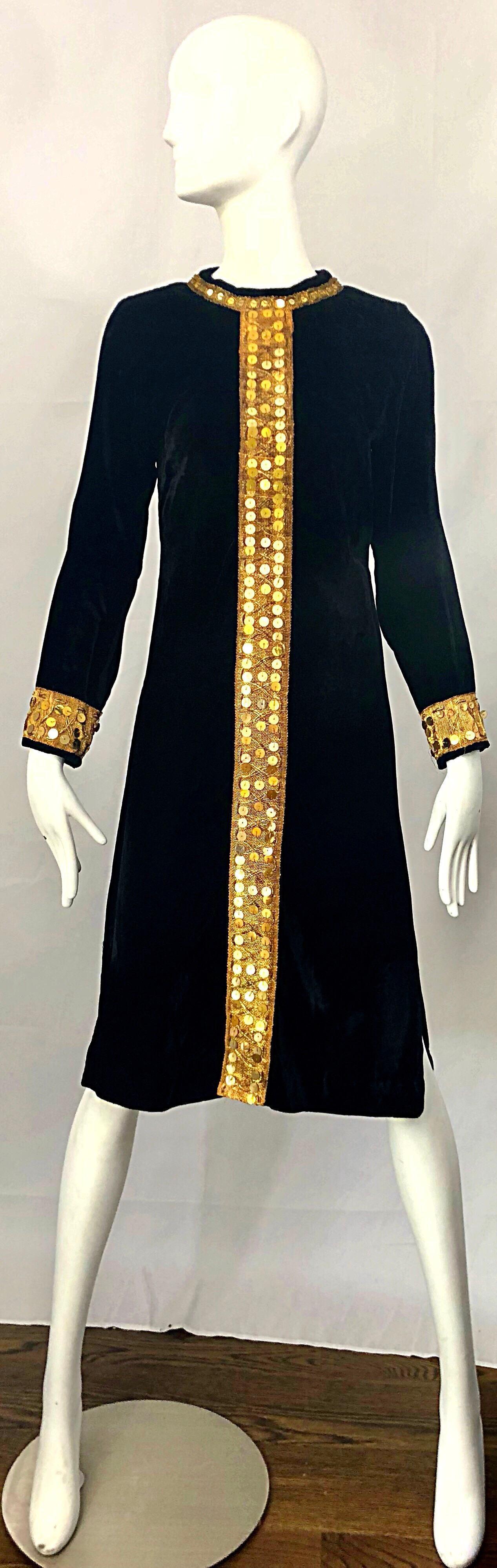 gold velvet dress long